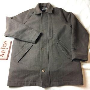 Columbia XCO Brown Herringbone Wool Blend Jacket